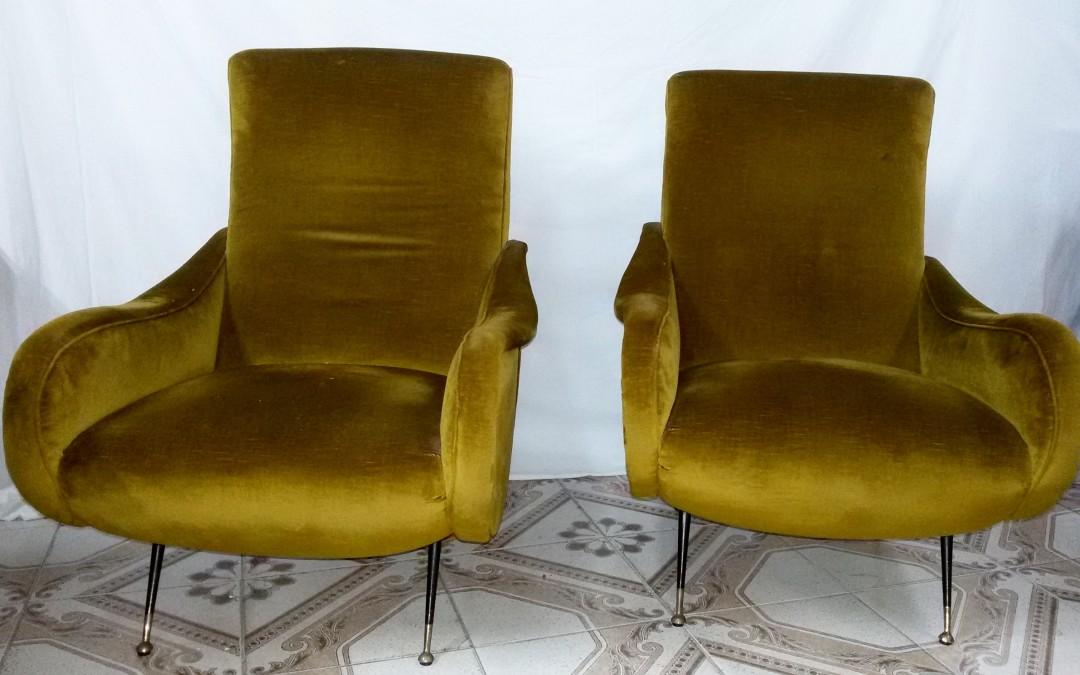 Poltrone,Armchairs ,design Marco Zanuso anni 60 / SOLD