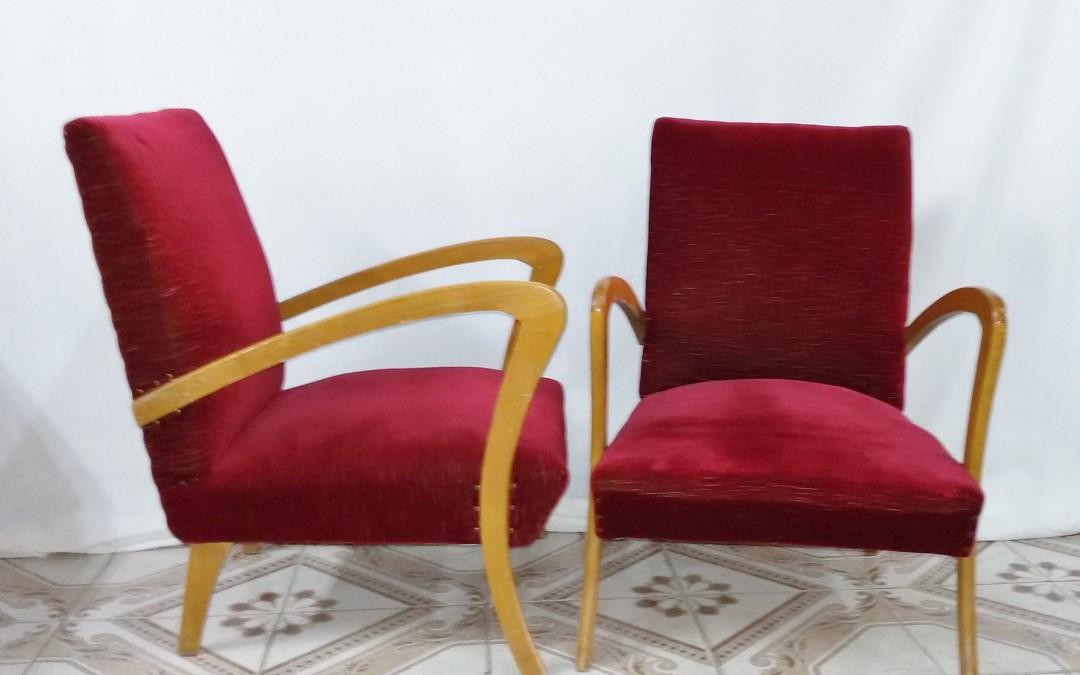 Coppia di poltrone anni 50 design italiano / SOLD