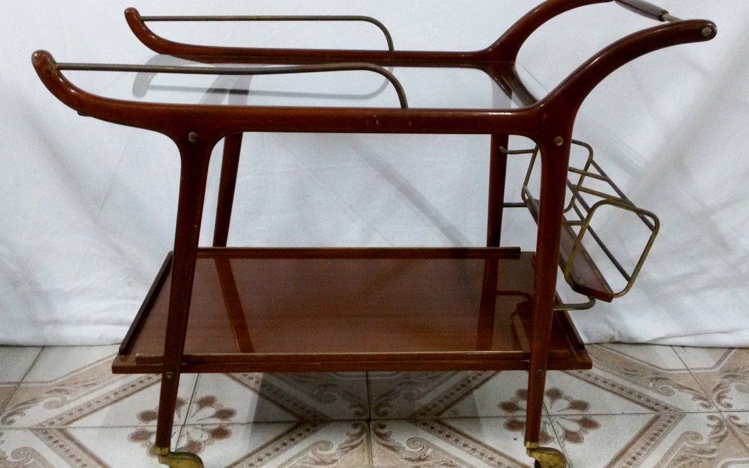 Cesare Lacca Bar Cart, Italy 1950's / SOLD