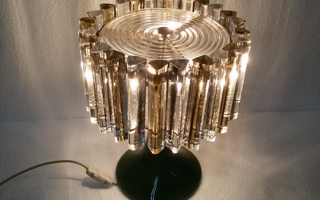 Rare Lampada da tavolo light Lamp Design Venini,Vistosi vetro Murano anni 50-60