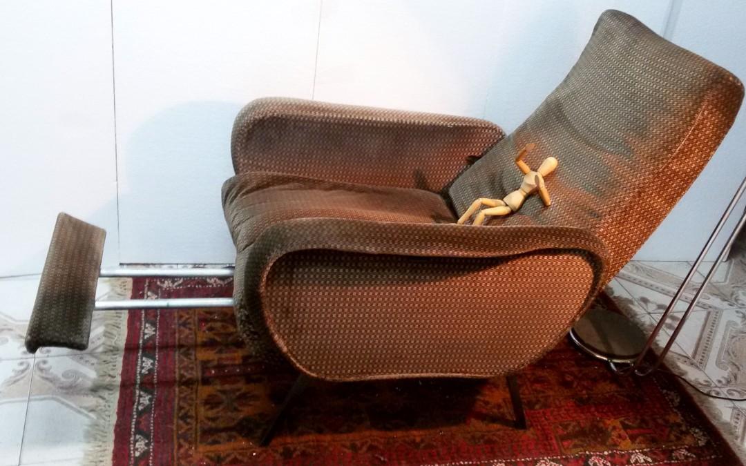 poltrone reclinabili In velluto Armchairs CHAISES,design Marco Zanuso anni 60