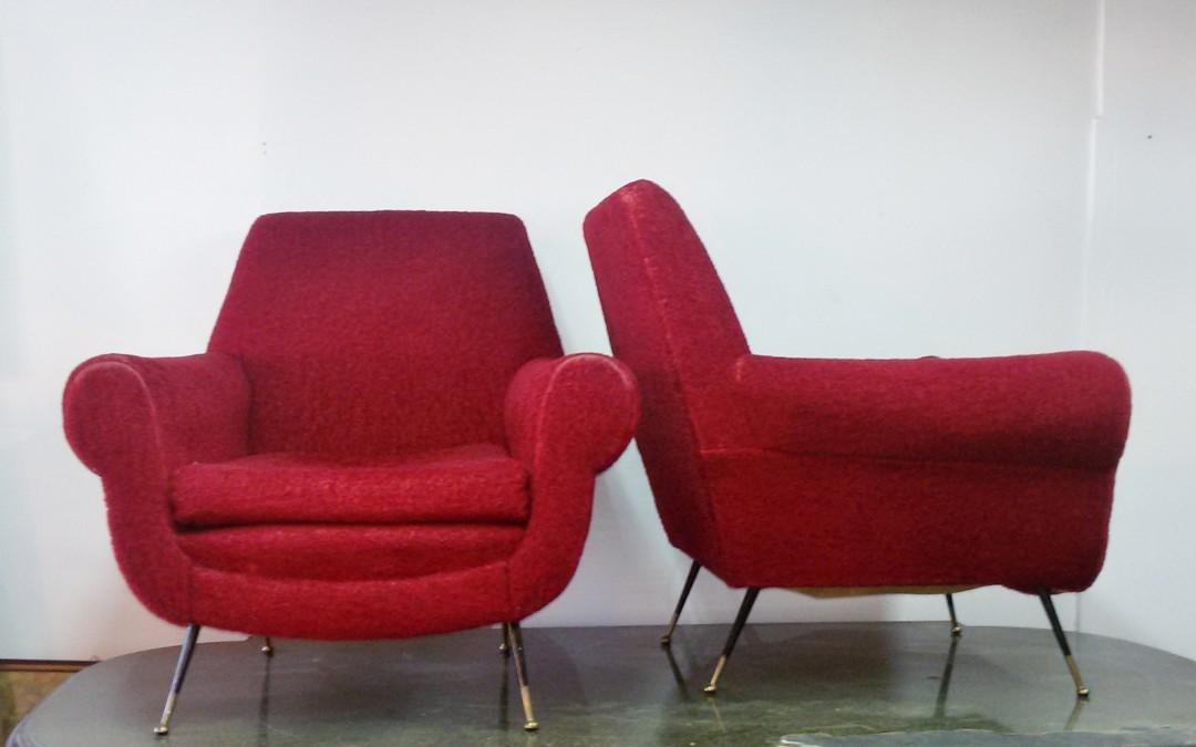 Coppia Poltrone,Armchairs,anni 60 design Gigi Radice / SOLD