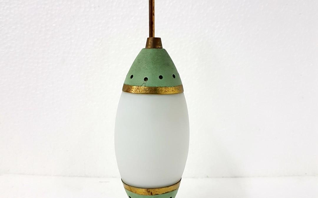 lampada da tavolo lamp design Stilnovo.Ottone diffusori in opalina anni 50 italy