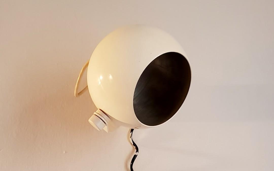 Grandi Lampade,applique,Globo in metallo verniciato space age design 70