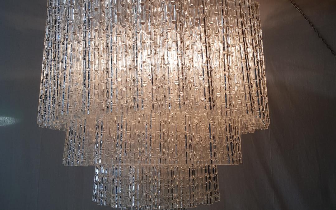 Grande Lampadario Chandeliers vetro murano by Toni Zuccheri for Venini, anni 60