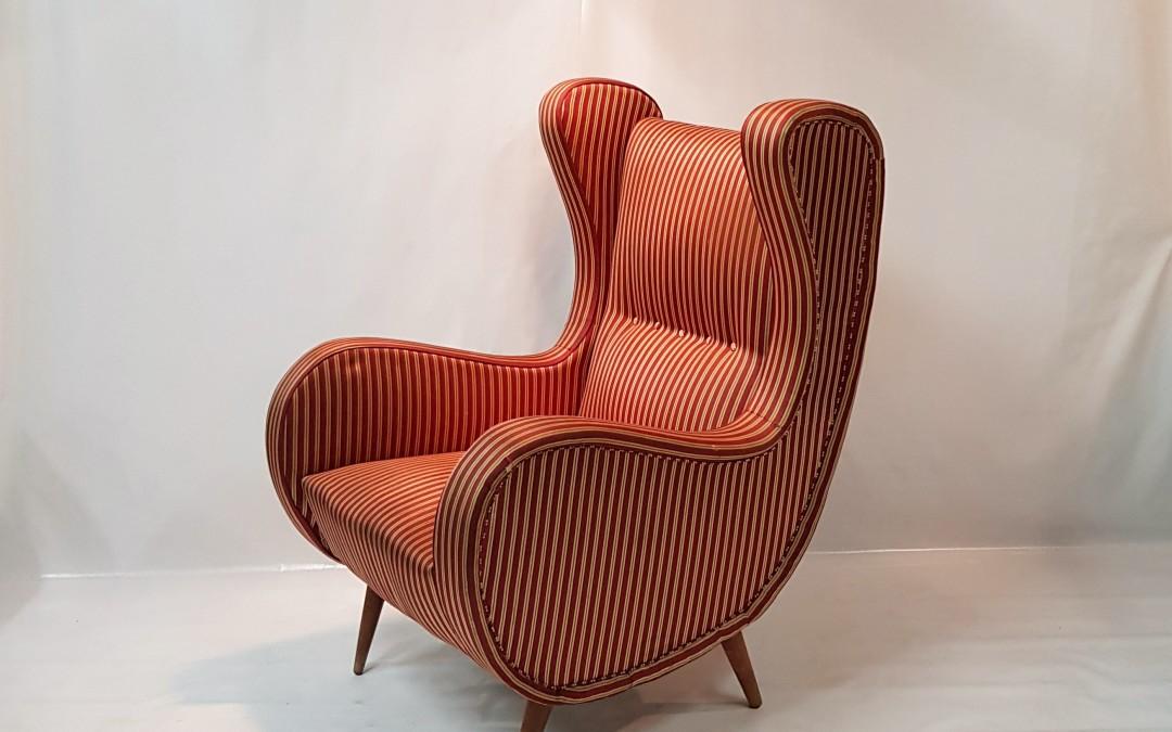 Coppia di poltrone armchair design Italiano mid century 1950 modernariato