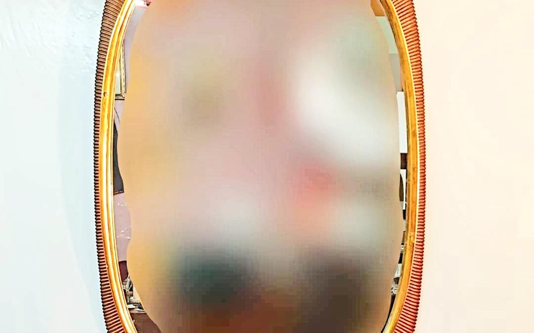 Specchio con cornice Mirror design Osvaldo Borsani Italia, anni '40