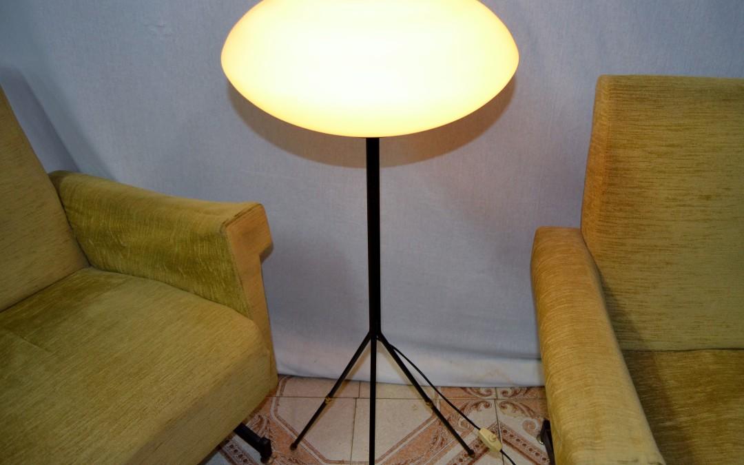 Lampada Tripod Floor Lamp design Stilnovo anni 50
