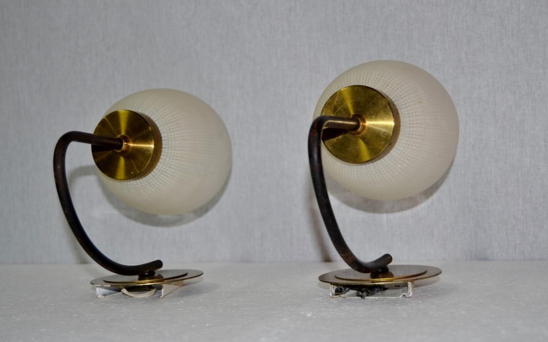 APPLIQUE,LAMPADE LAMP IN VETRO/OTTONE 50 STILNOVO