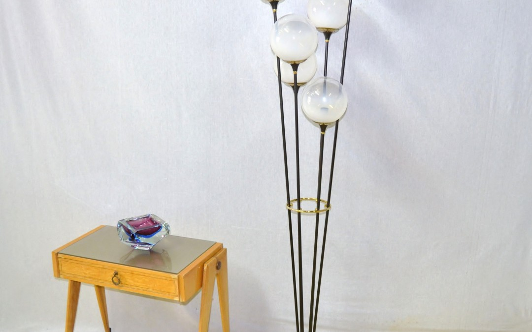 Rare Floor Lamp Lampada da terra Alberello design Stilnovo anni 60
