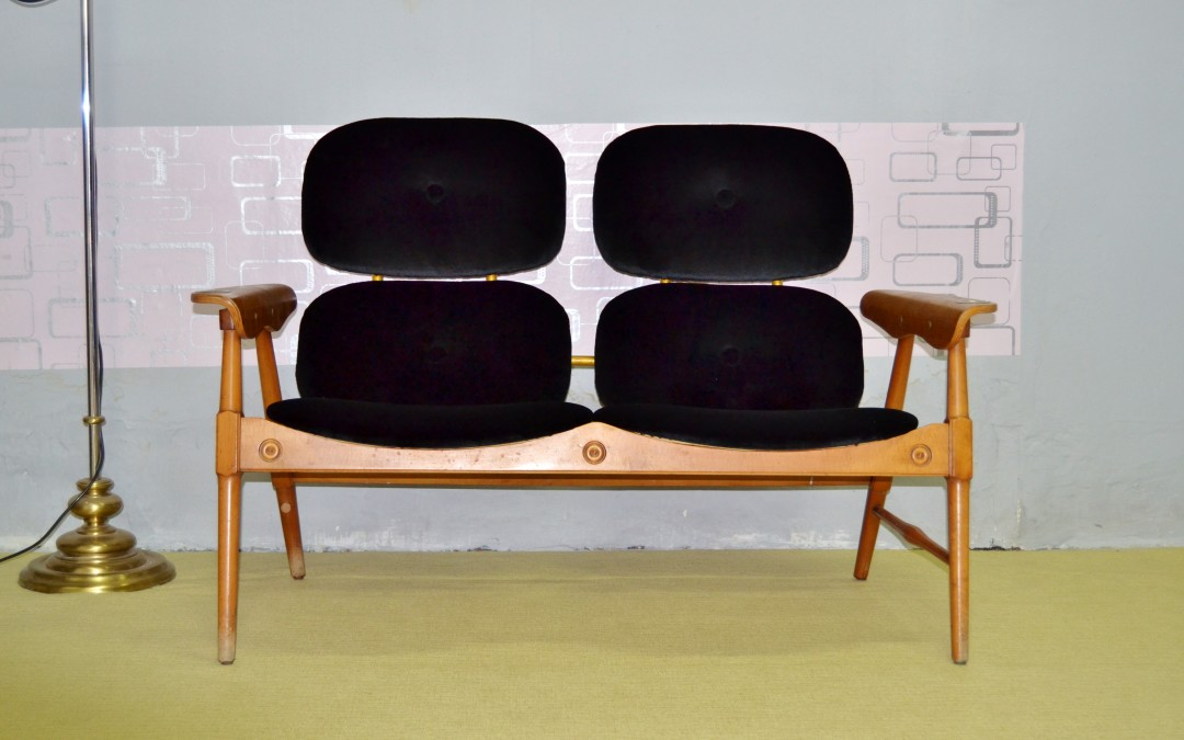 Armchair design poltrona a due sedili vintage anni 60