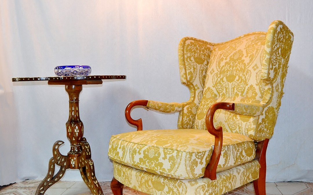 Poltrone armchairs, in legno con tessuto originale produzione ISA design anni 50