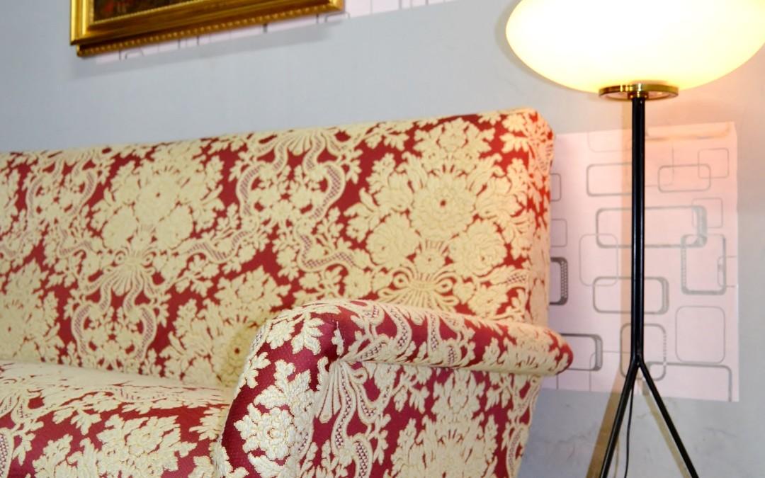 Divano sofà stoffa originale anni 60 attribuzione al design Gio Ponti