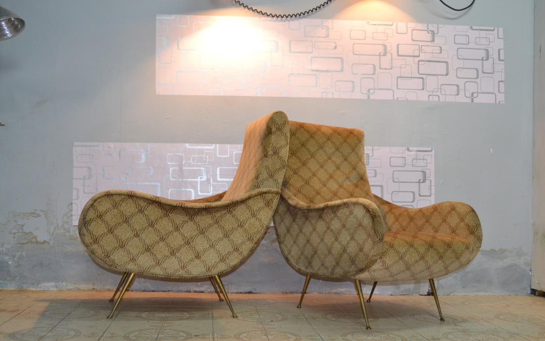 poltrone armchairs design stile Marco Zanuso mid century anni 60