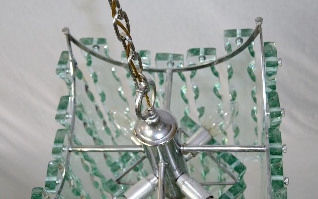 Lampadario chandelier vetro scalpellato design 04 zero quattro per fontana arte