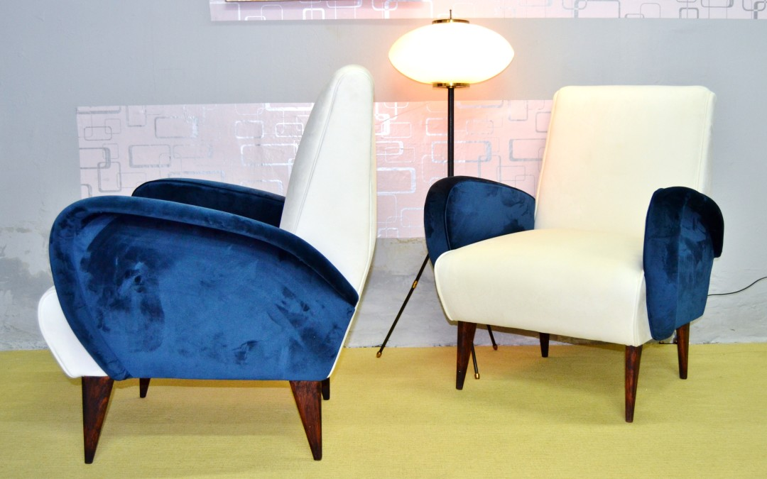 POLTRONE ARMICHAIRS DESIGN ALDO MORBELLI ANNI 50 CHAIRS