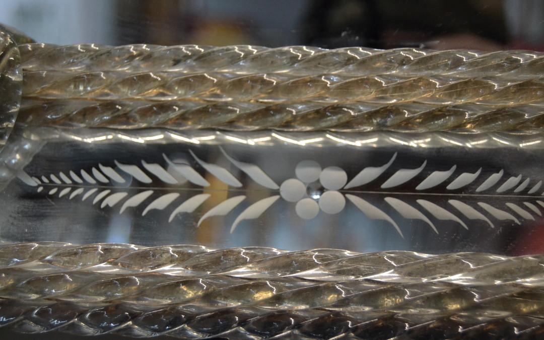 VETRO DI MURANO. MIRROR GLASS VINTAGE MID CENTURY ANNI 60