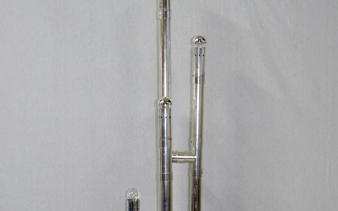 Piantana rara Lamp mod. Rombo Designer Gaetano Missaglia produzione anni 60.