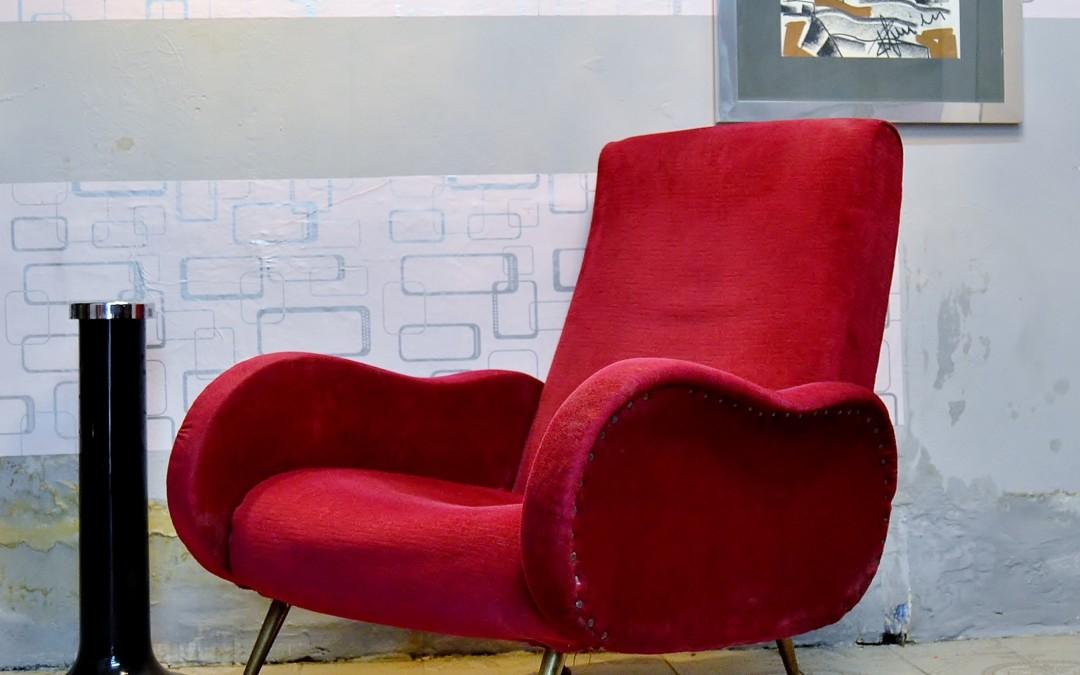 Poltrona armchair design stile lady Marco Zanuso mid century anni 50