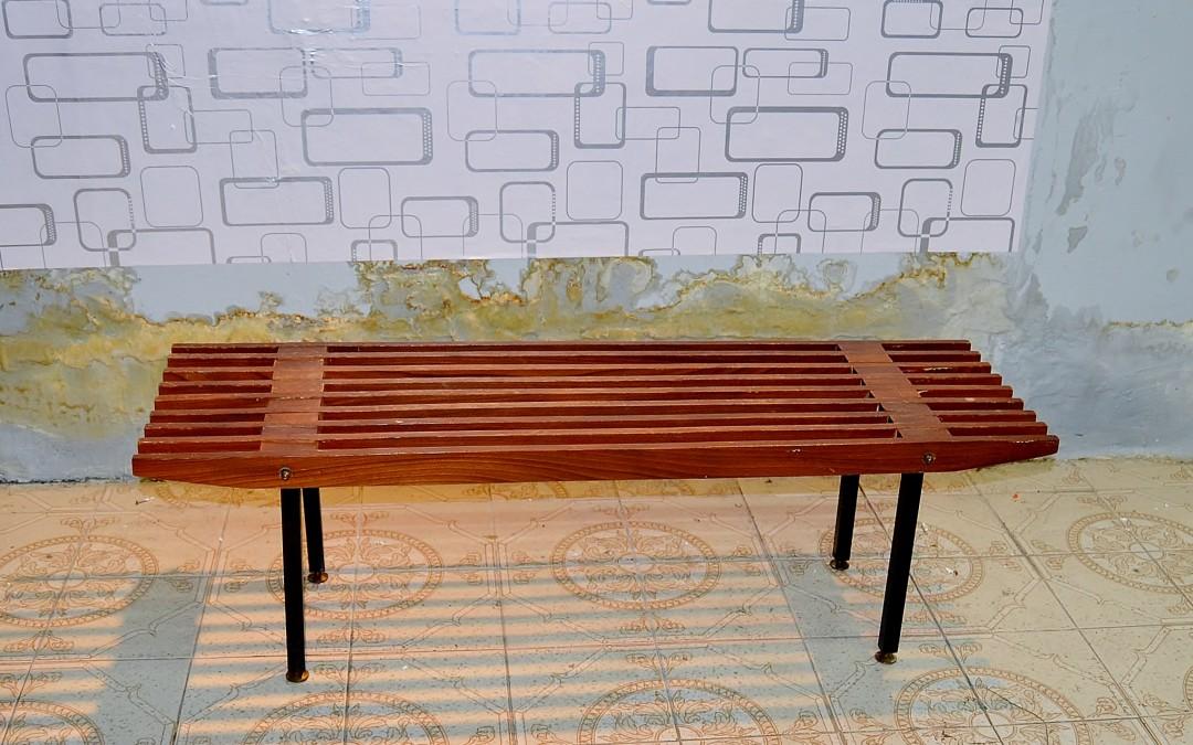 Panca,bench in legno teak produzione Fiarm design anni 60 Italia