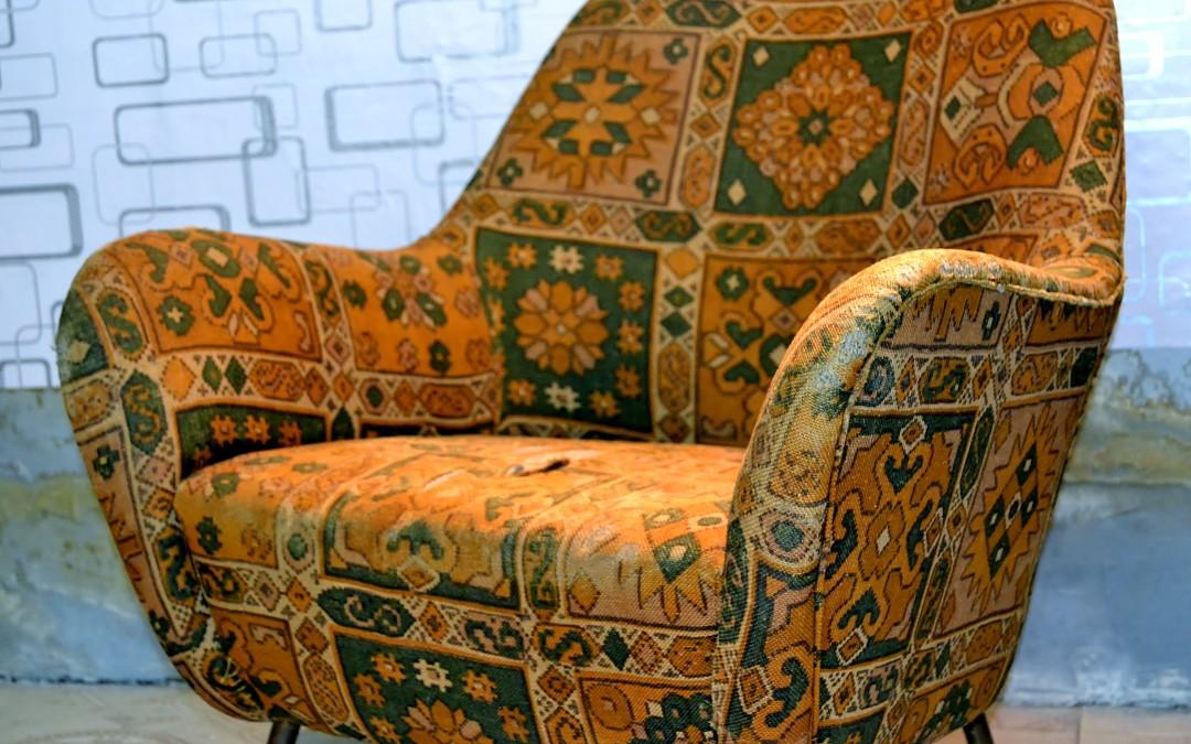 armchairs,produzione ISA style Gio Ponti design anni 50