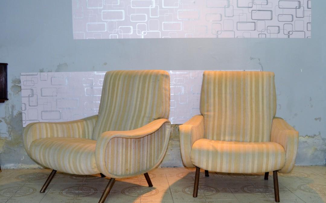 Poltrone coppia, Armchairs design da Marco Zanuso - Arflex, 1951 mid century
