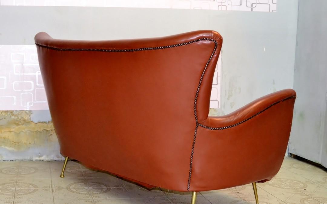 Ico Parisi Design,divano,sofà skai Prod. Ariberto colombo '50