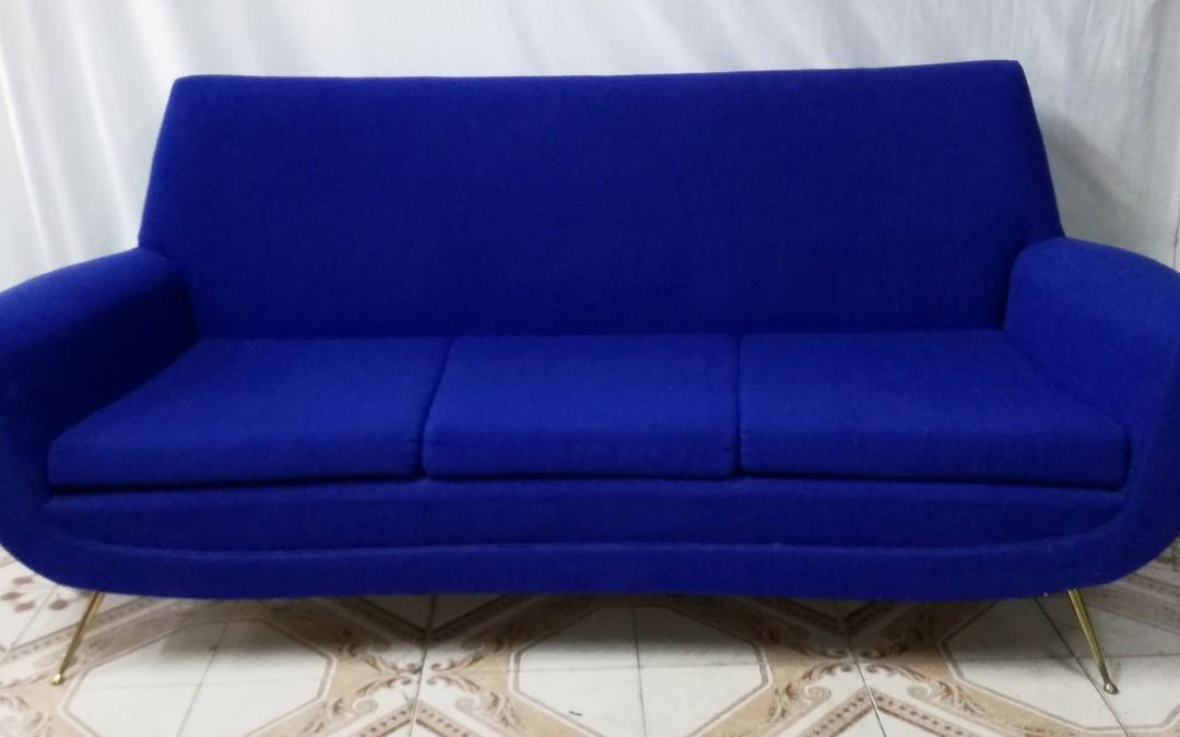 Divano,Sofa' tre posti,design Gigi Radice per Minotti anni 50