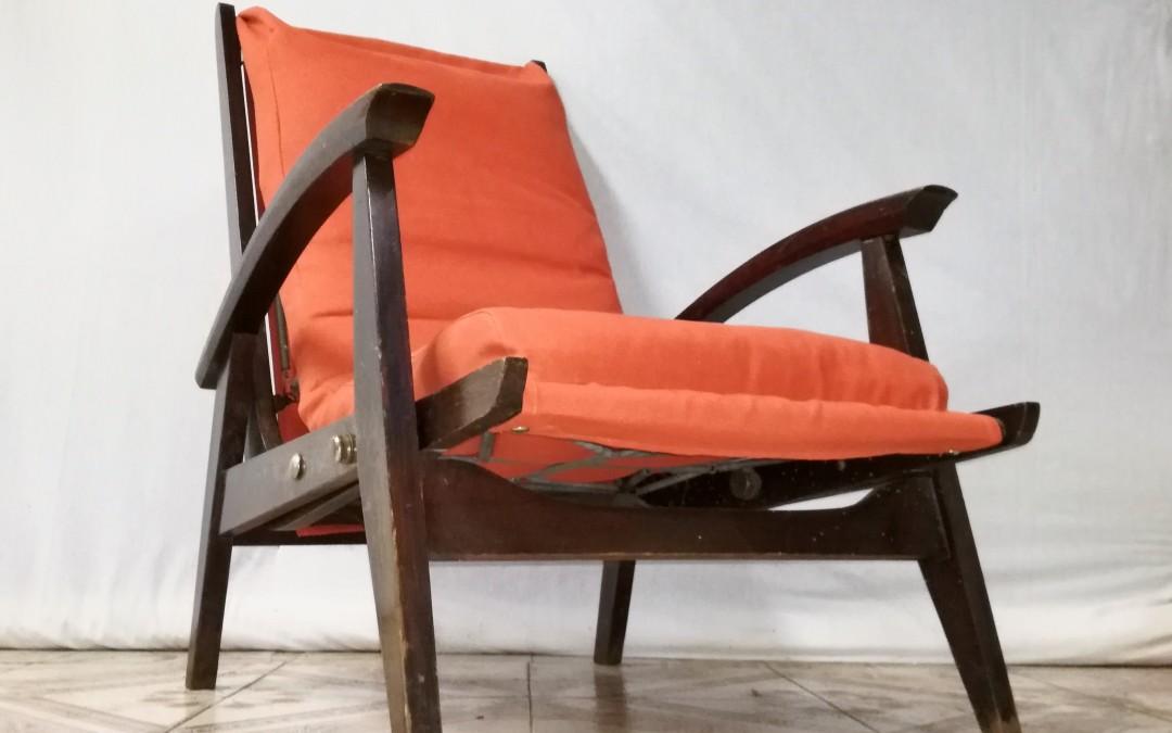 Poltrona sorrento cerruti design anni 50- schienale con 2 posizioni