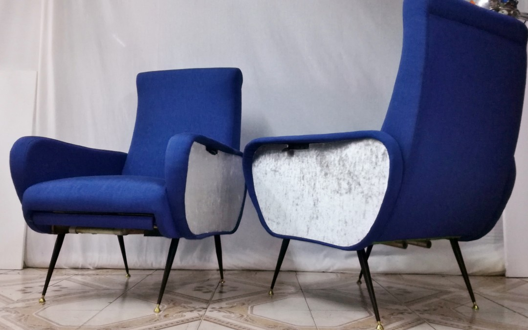 poltrone reclinabili Armchairs CHAISES,design style Marco Zanuso anni 60