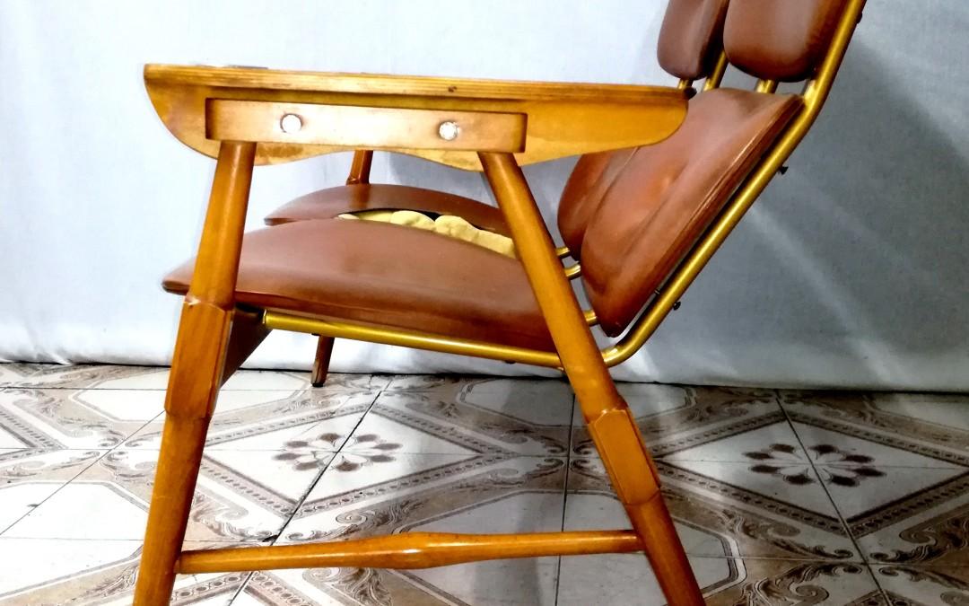 divano sofà chair in legno e sky e legno design anni 60 italia vintage